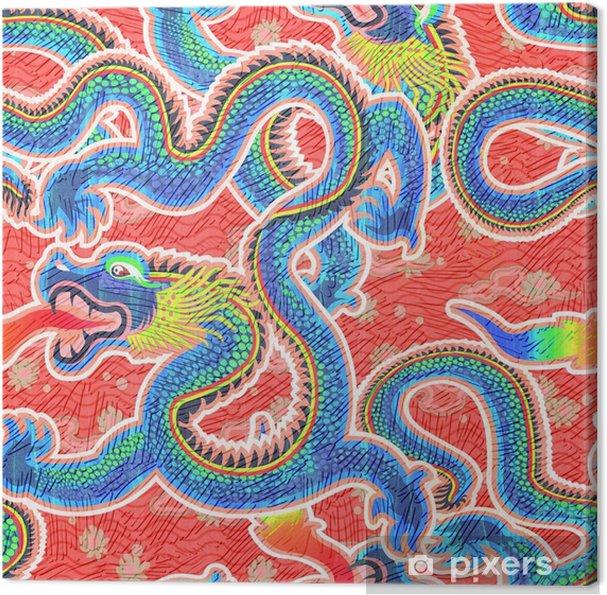 Obraz na płótnie Bezszwowe chiński smok pattern.high-resolution bezszwowych tekstur - Podróże