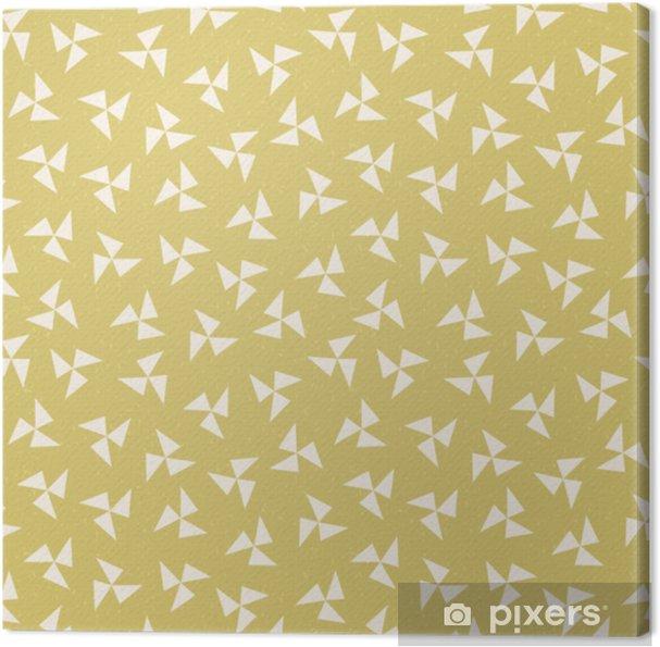 Obraz na płótnie Bezszwowe hipster Wiatraczek geometryczne musztarda żółty - Zasoby graficzne