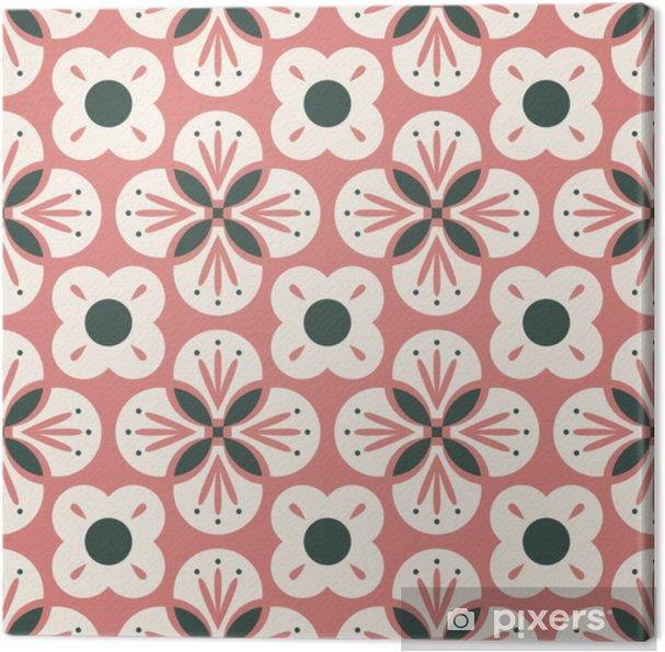Obraz na płótnie Bezszwowe retro wzór z streszczenie kwiatowy elementy - Zasoby graficzne