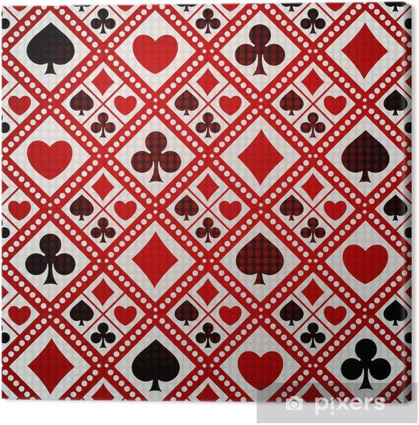 Obraz na płótnie Bezszwowe tło karty gry garnitury - Rozrywka