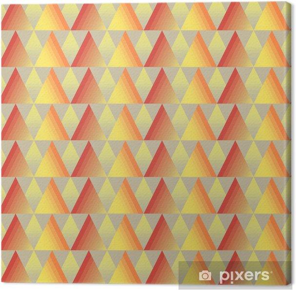 Obraz na płótnie Bezszwowe tło trójkąt - Sztuka i twórczość