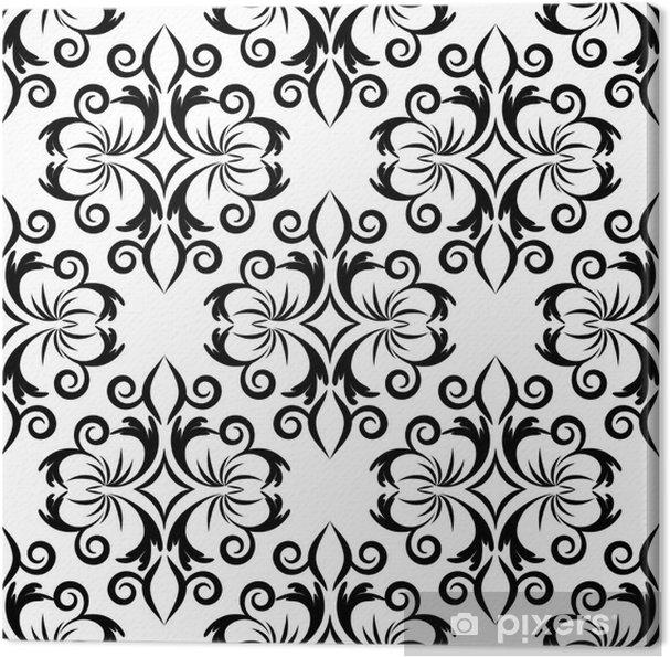 Obraz na płótnie Bezszwowe wallpaper.arabesque pattern.floral tle - Tła
