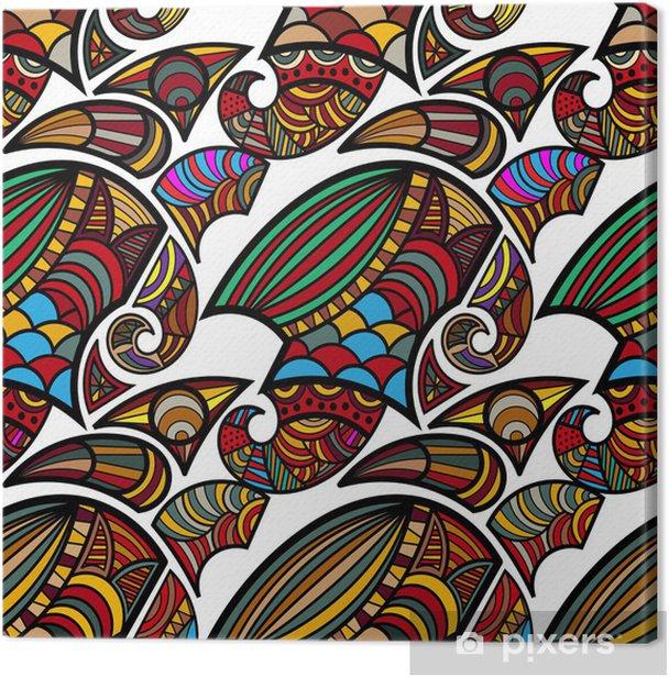 Obraz na płótnie Bezszwowych tekstur z curlicue - Tła