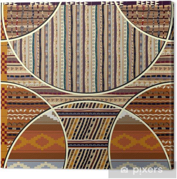 Obraz na płótnie Bezszwowych tekstur z elementów geometrycznych w stylu afrykańskim - Tekstury