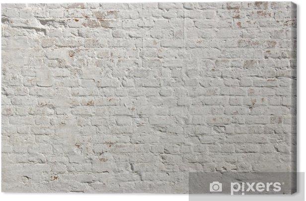Obraz na płótnie Białe grunge ceglany mur w tle - Style