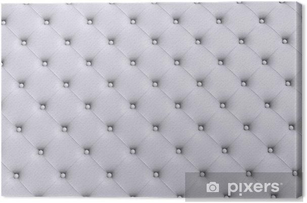 Obraz na płótnie Białe tekstury skóry pikowane kanapy - Moda