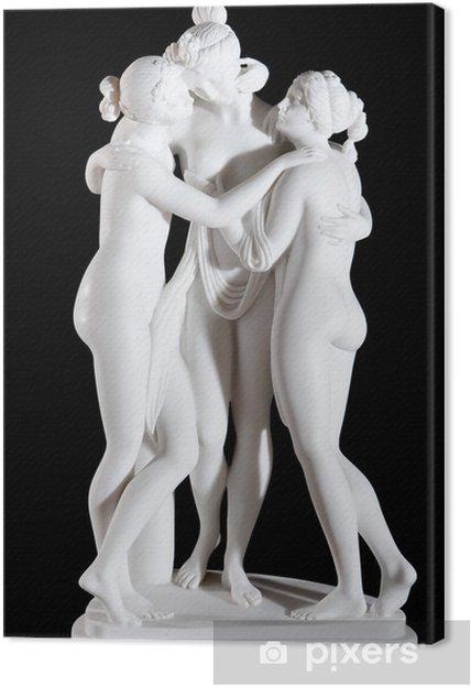 """Obraz na płótnie Białego marmuru statua """"Trzy Gracje"""" autorstwa Antonio Canova - Budynki użyteczności publicznej"""