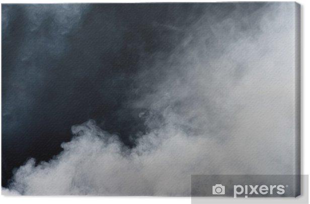 Obraz na płótnie Biały dym na czarnym tle. izolowane. - Tematy