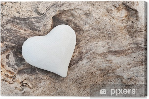 Obraz na płótnie Biały Heart - Style