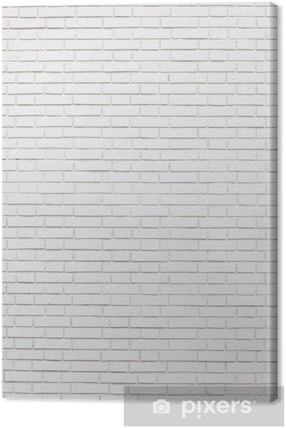 Obraz na płótnie Biały mur z cegły -