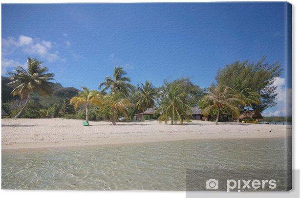 Obraz na płótnie Biały piasek plaży, Moorea, Polinezja Francuska - Wakacje