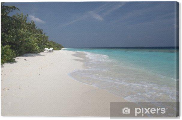 Obraz na płótnie Biały plaży Malediwach - Wakacje