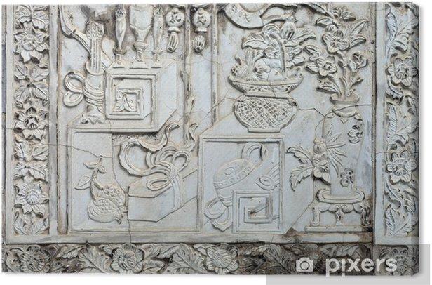 Obraz na płótnie Biały stiuk, tajski styl na ścianie - Tła