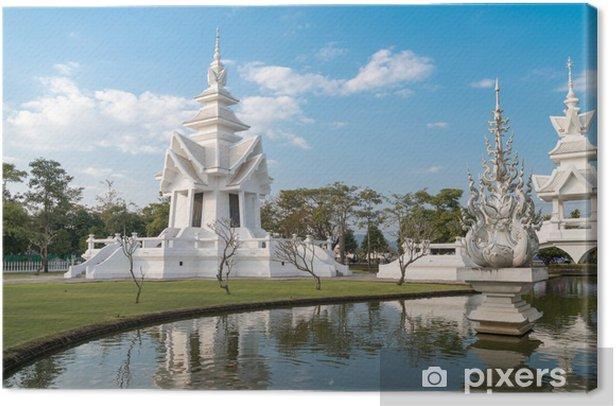 Obraz na płótnie Biały świątyni Wat Rong Khun i refleksji. Chiang Rai prowincji - Azja