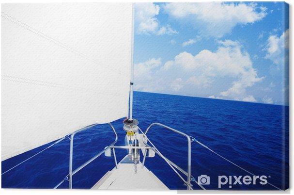 Obraz na płótnie Biały Żaglówka - Sporty wodne