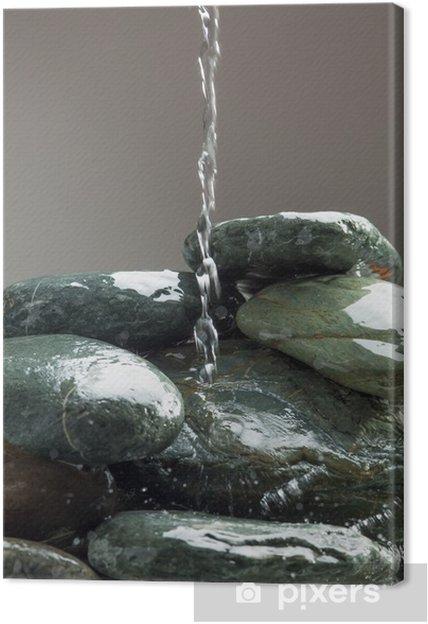 Obraz na płótnie Bieżącej wody na zielonych kamieni - Religie