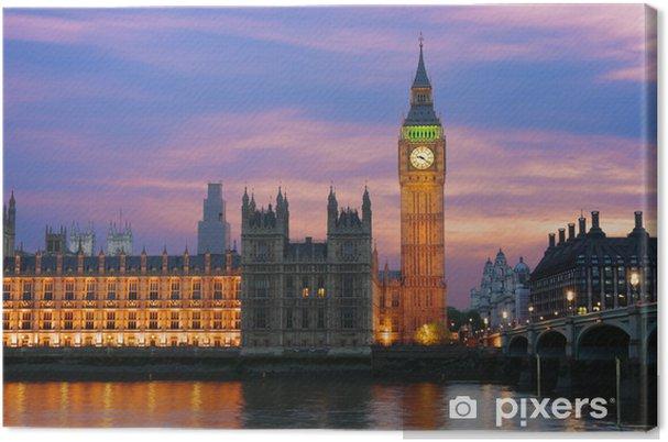 Obraz na płótnie Big Ben w Londynie o zmierzchu - Tematy