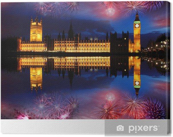 Obraz na płótnie Big Ben z fajerwerków w Londyn, UK - Tematy
