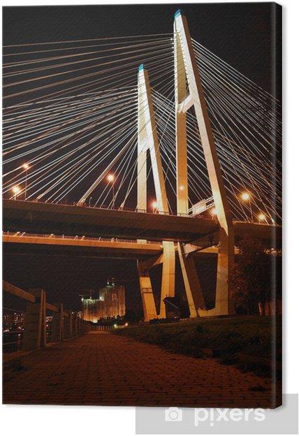 Obraz na płótnie Big most wantowy w nocy, St.Petersburg - Azja