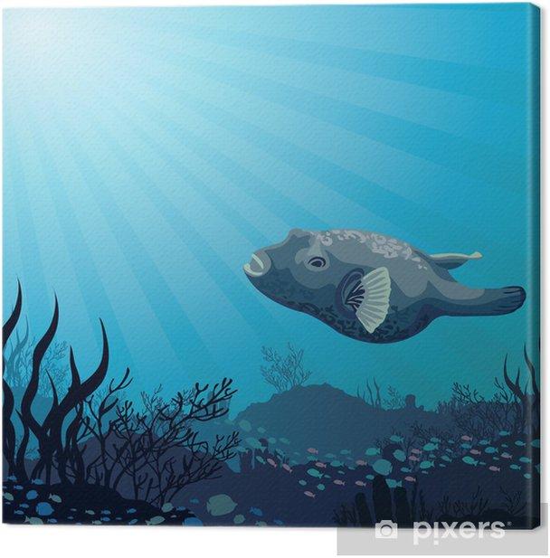 Obraz na płótnie Big ryby i korale - Zwierzęta żyjące pod wodą