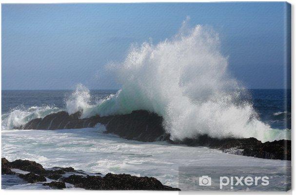Obraz na płótnie Big Wave i Skały - Woda
