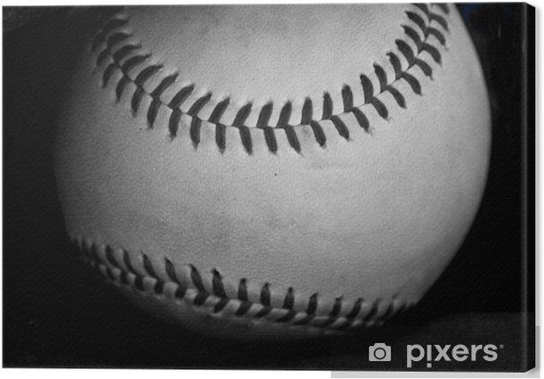 Obraz na płótnie Black and white baseball - Style