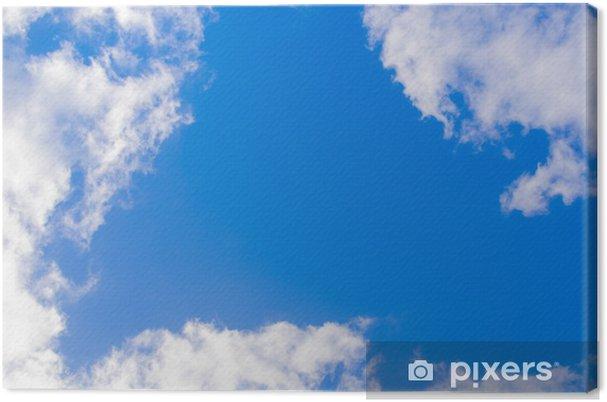 Obraz na płótnie Błękitne niebo i chmury - Niebo