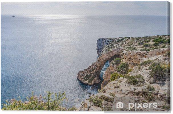 Obraz na płótnie Blue Grotto na południowym wybrzeżu Malty. - Europa