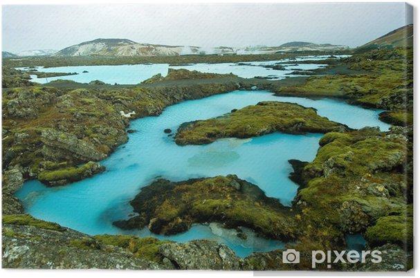 Obraz na płótnie Blue Lagoon w Islandii - Biegun Północny i Południowy
