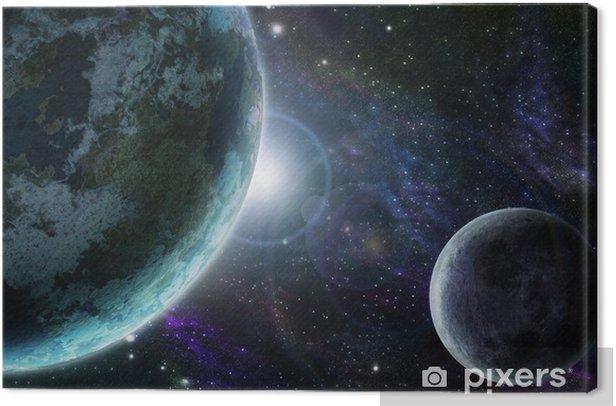 Obraz na płótnie Blue planet earth w przestrzeni kosmicznej - Wszechświat