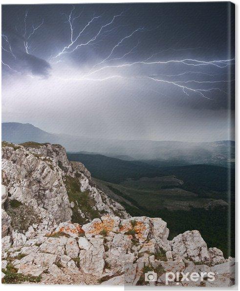 Obraz na płótnie Błyskawica - Niebo