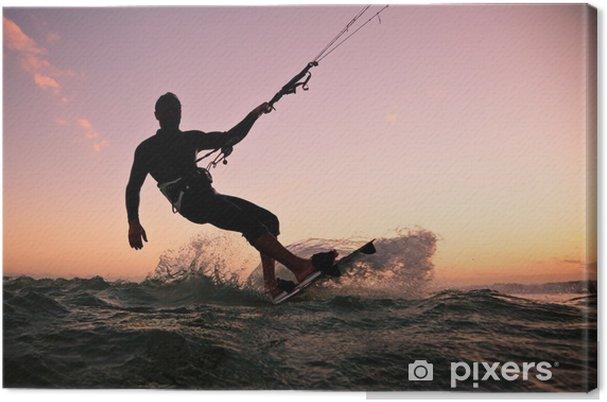 Obraz na płótnie Boarding Kite. Kitesurfingu freestyle -
