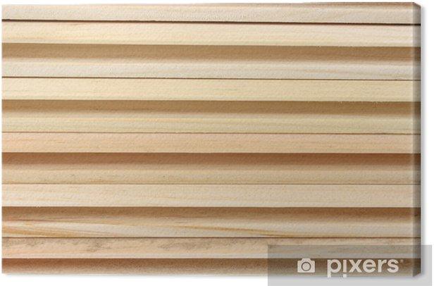 Obraz na płótnie Boczne pióra i wpustu desek sosnowych - Przemysł ciężki
