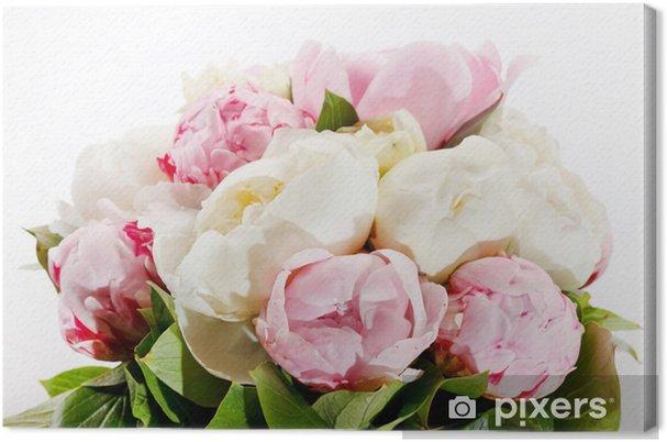 Obraz na płótnie Bogaty bukiet piwonii - Kwiaty