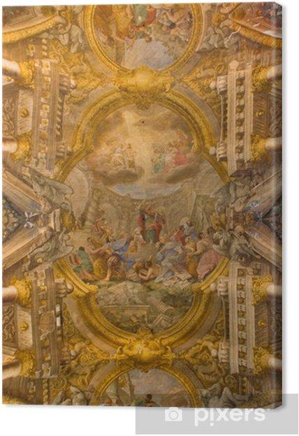 Obraz na płótnie Bolonia, Włochy - 16 marca 2014: Fresco w kopule św Pawła - Europa