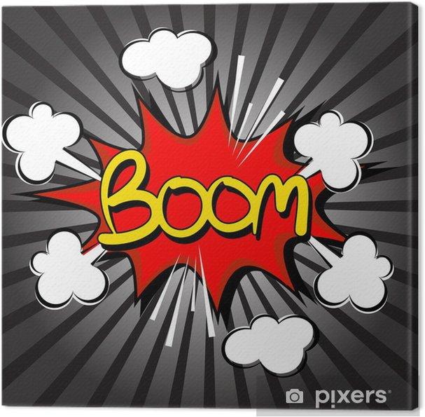 Obraz na płótnie Boom z prędkości radialnej. komiks dymka - Filmy i seriale