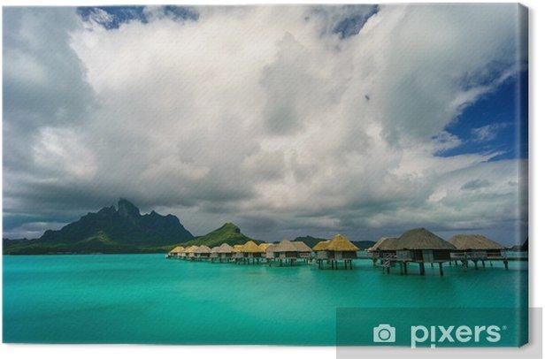 Obraz na płótnie Bora Bora pod dramatycznego chmury - Wyspy
