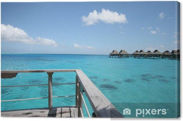 Obraz na płótnie Bora Bora wielka Laguna Vista - Oceania