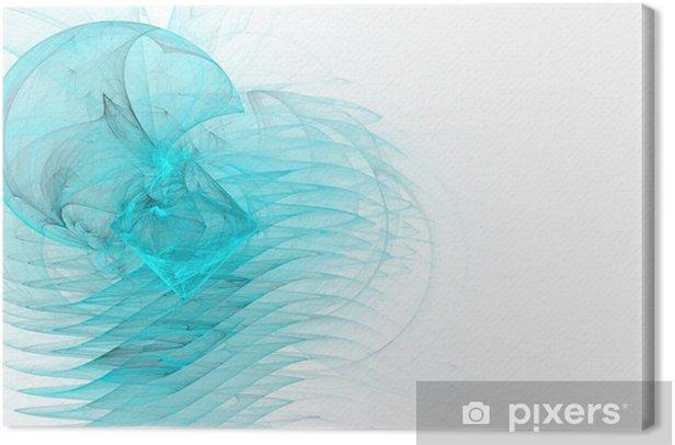 Obraz na płótnie Border / business graficzne - niebieski i turkusowy graficzny - Abstrakcja