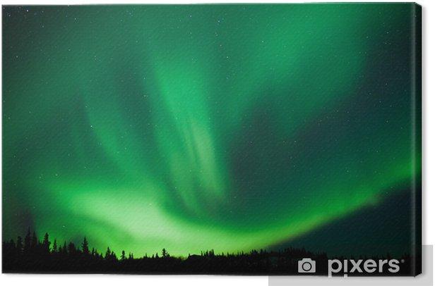 Obraz na płótnie Borealnych lasów tajgi Zorza polarna substorm wirować - Cuda natury