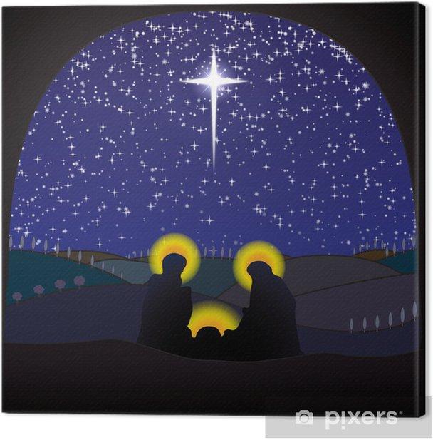 Obraz na płótnie Boże Narodzenie Boże Narodzenie, scena szopka - Święta międzynarodowe
