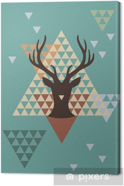 Obraz na płótnie Boże Narodzenie jelenia z geometryczny wzór, wektor - Tematy
