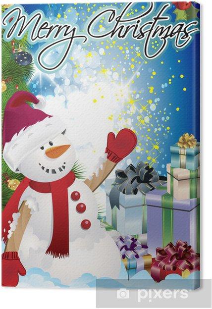 Obraz na płótnie Boże Narodzenie plakat clipartów - Tła