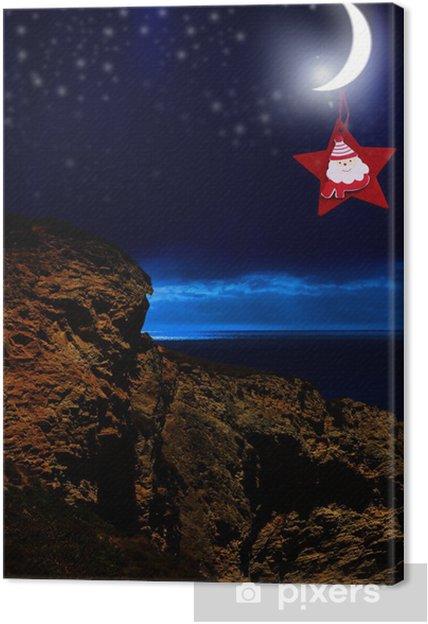Obraz na płótnie Boże Narodzenie świeci księżyc - Święta międzynarodowe