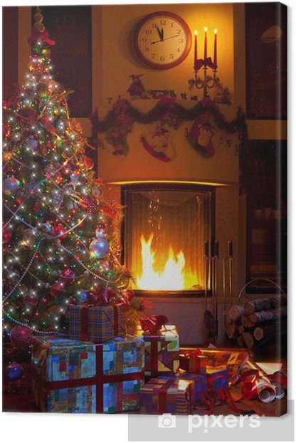 Obraz na płótnie Boże Narodzenie w domu wystrój - Święta międzynarodowe