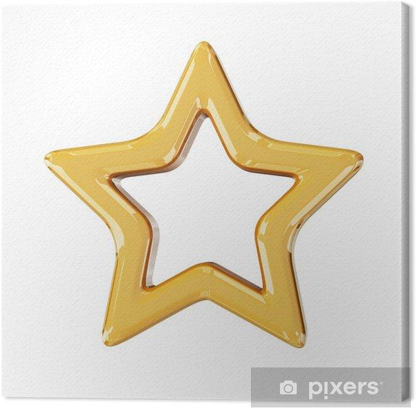Obraz na płótnie Boże Narodzenie złota gwiazda - Święta międzynarodowe