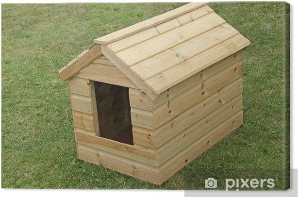 Obraz na płótnie Brand New drewniane Dog Kennel na trawniku. - Ssaki