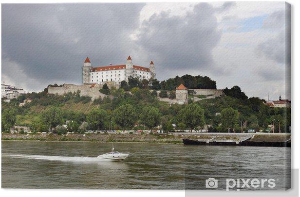 Obraz na płótnie Bratysława (stolica Słowacji) zamek z rzeki Dunaj - Europa