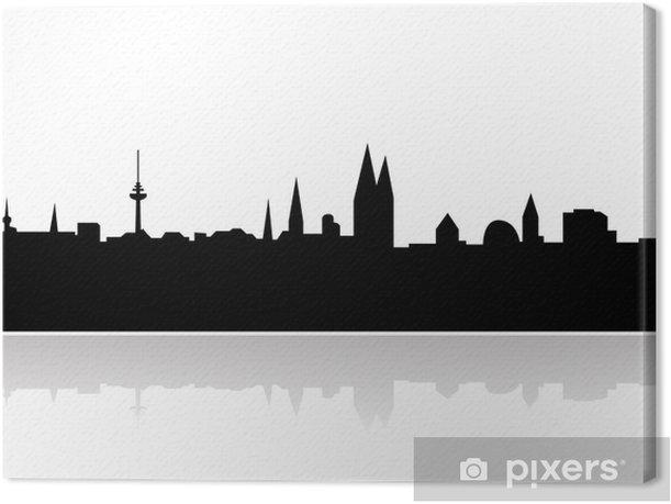 Obraz na płótnie Brema schattenriss niebo linii oraz punktów orientacyjnych - Europa
