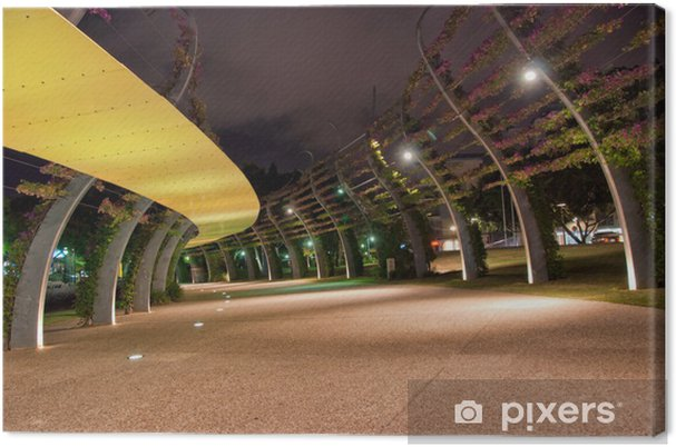 Obraz na płótnie Brisbane City - Southbank At Night - Queensland - Australia - Oceania